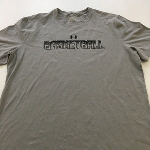 Under Armour Tee Basketball Graphic Shirt Loose L